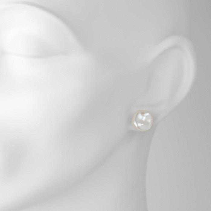 Keshi Pearl 9ct Gold Ear Studs