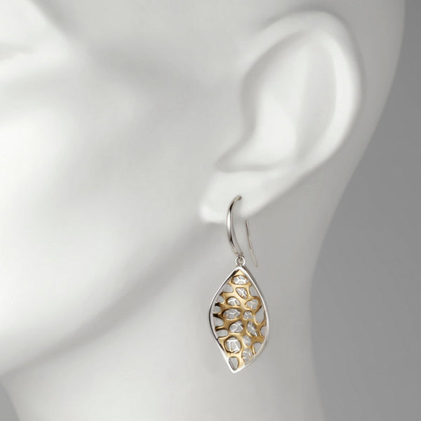 Champagne Gilded Silver Hook Earrings