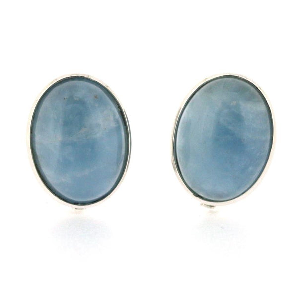 Aquamarine Clip on Earrings