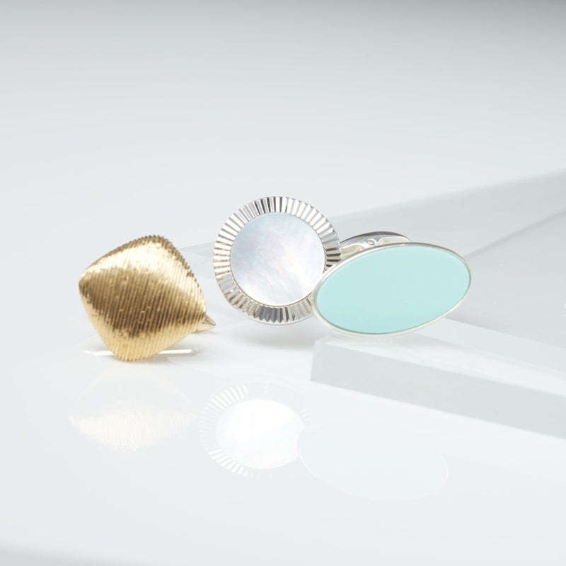 Fitzroy Turquoise Sterling Silver Cufflinks