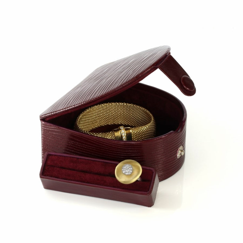 Leather Jewellery Travel & Cufflink Case