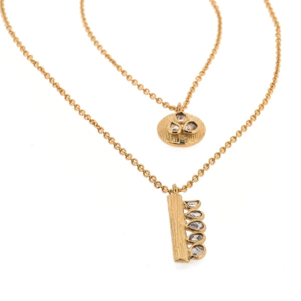 Ormonde Gilded Silver & Diamond Double Pendant Necklace