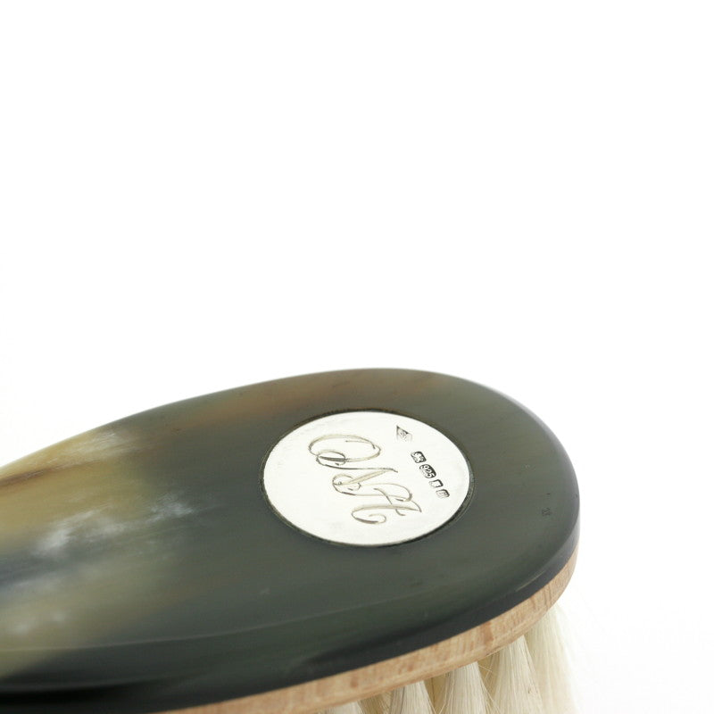 Horn & Sterling Silver Baby Hair Brush
