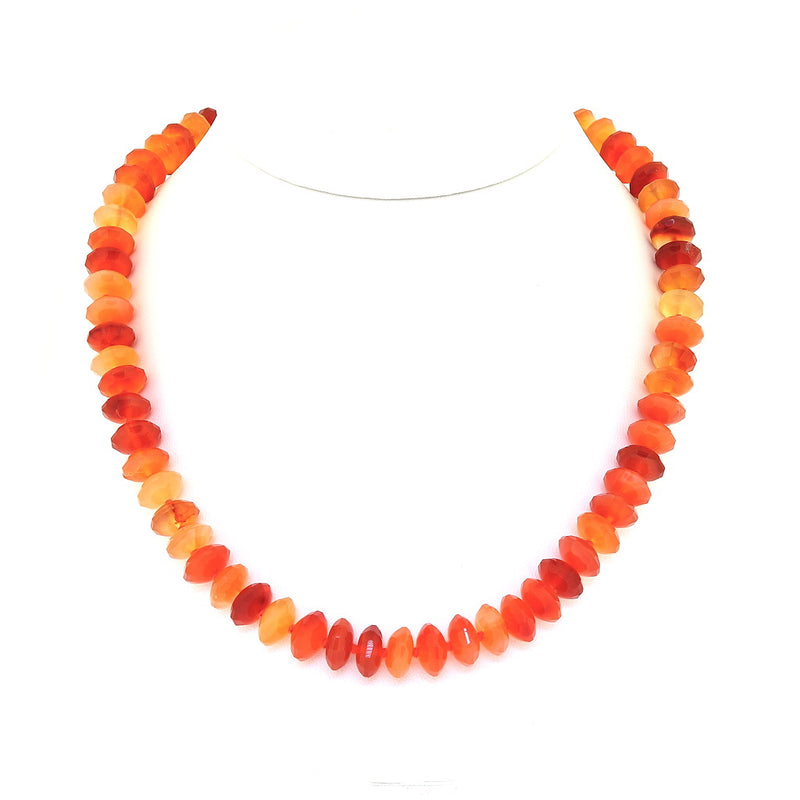 N13 Carnelian Rondelle Necklace SAMPLE
