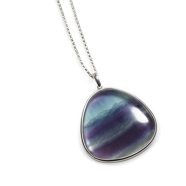 Giverny Fluorite & Sterling Silver Pendant
