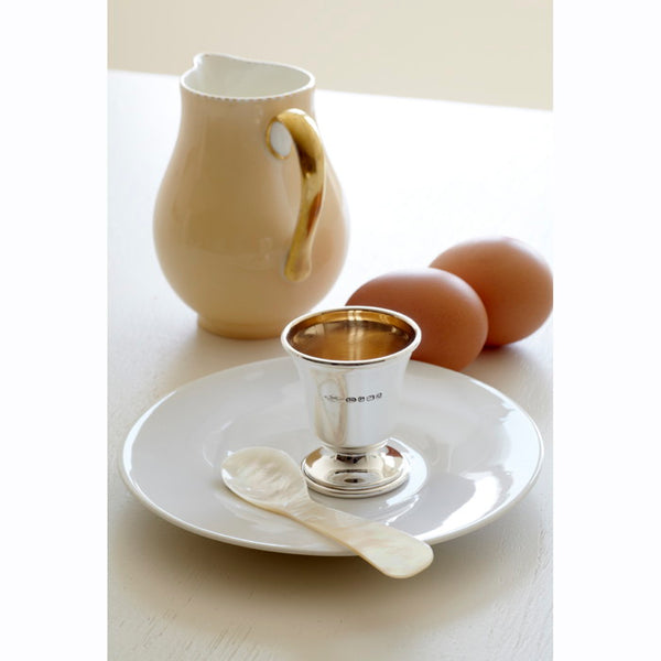 Sterling Silver Goblet Egg Cup & Spoon