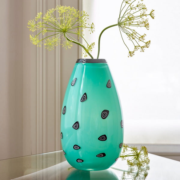 Polka British Art Glass Vase