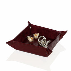 Leather Jewellery Tray or Nightstand