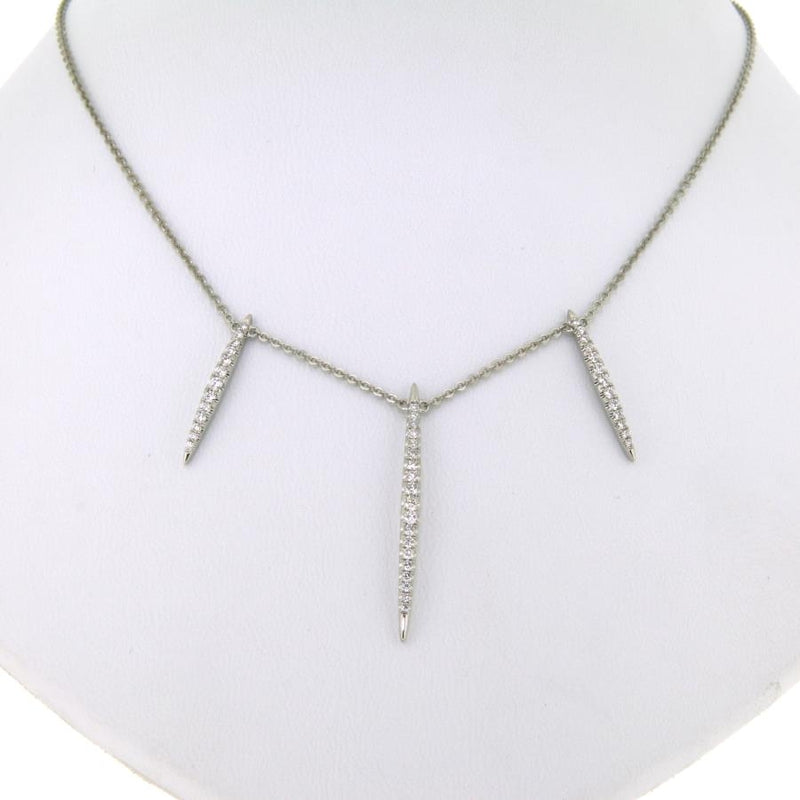 Manhattan 18ct White Gold & Diamond Necklace