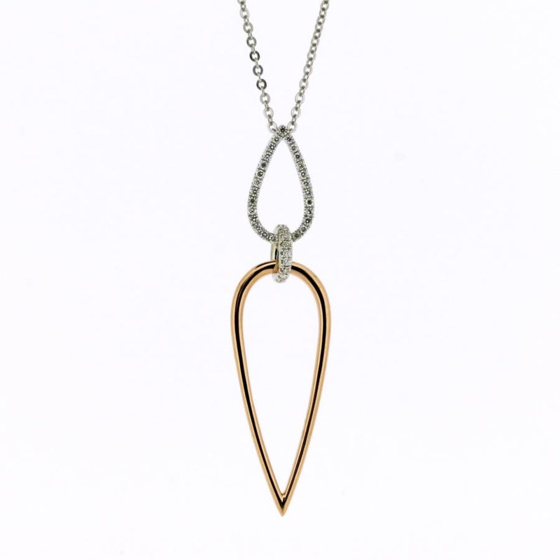 Arabella 18ct Rose Gold & Diamond Pendant