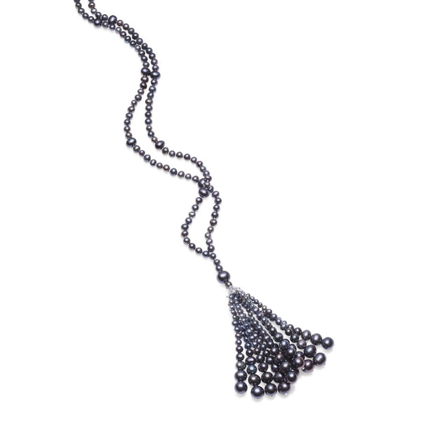 Lulu Black Pearl Necklace