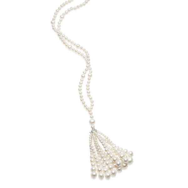 Lulu White Pearl Necklace