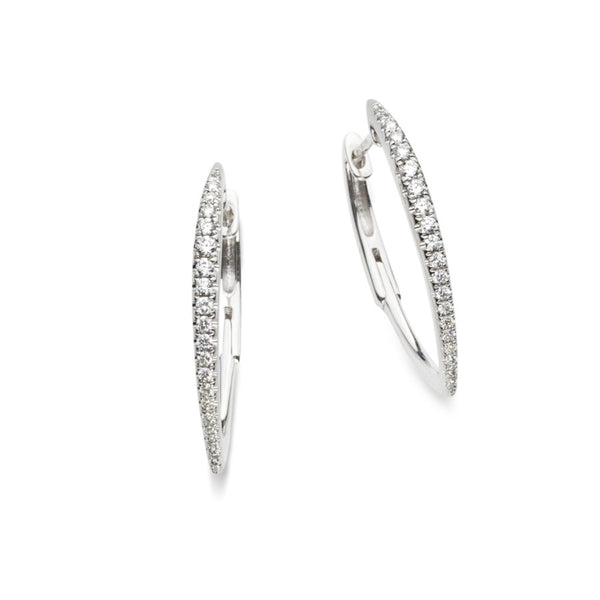 Manhattan 18ct White Gold & Diamond Hoop Earrings