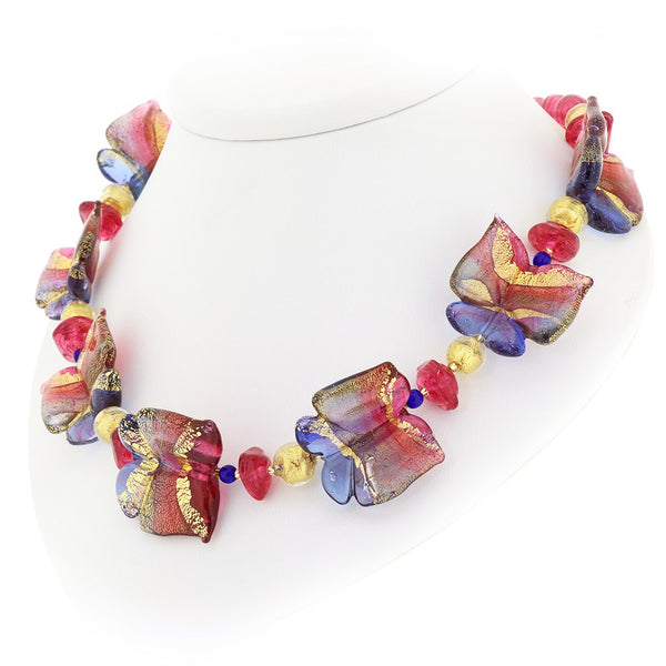 Mariposa - Murano Glass Butterfly Necklace