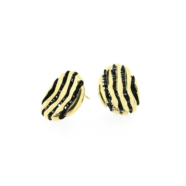 Milano Gilded Silver Curved Stud Earrings CLEARANCE save £30