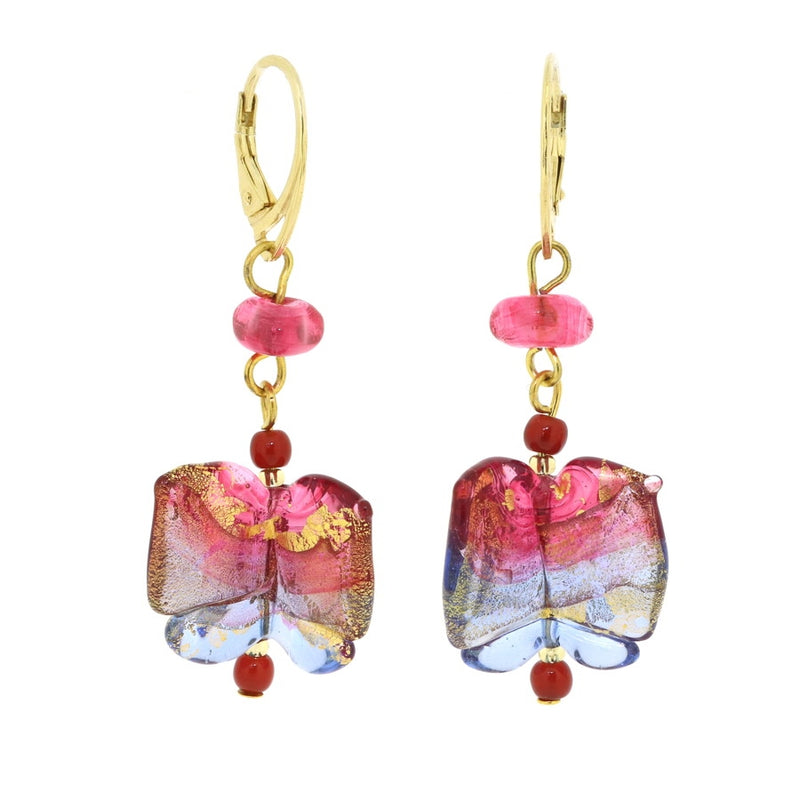 Mariposa - Murano Glass Butterfly Earrings