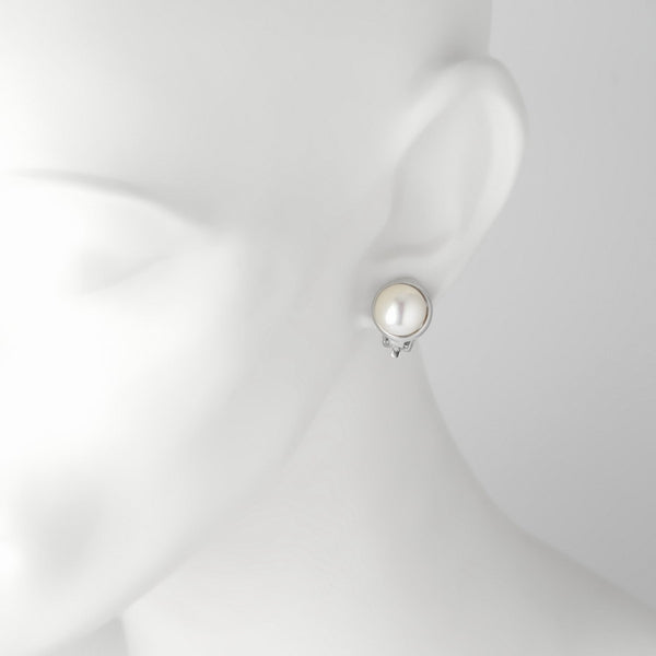 Selene Pearl Clip on Earrings