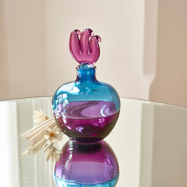 Azur English Art Glass Incalmo Perfume Bottle