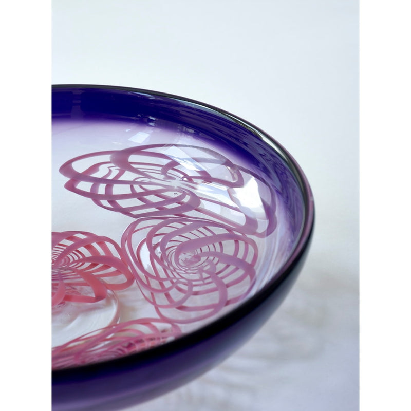 Rosetta English Art Glass Bowl