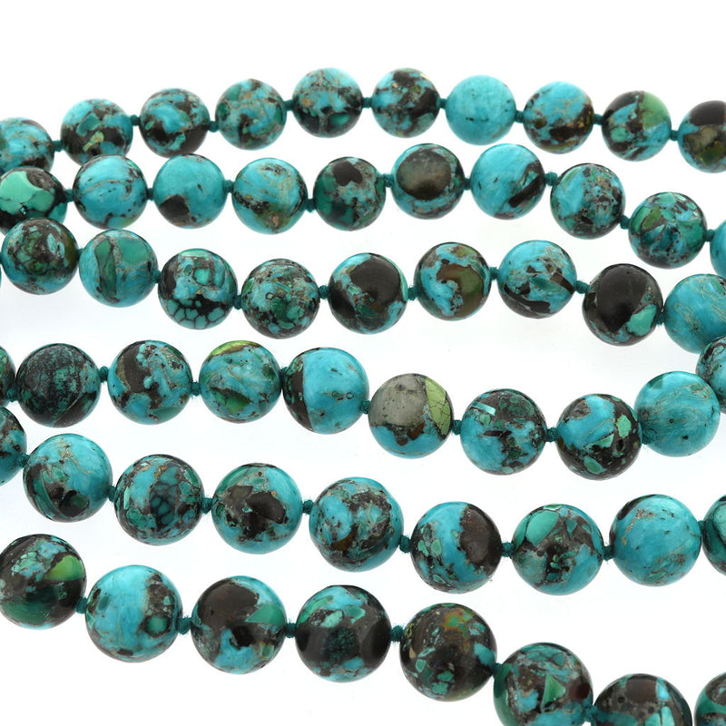 R102 Blue Hubei Turquoise Necklace SAMPLE