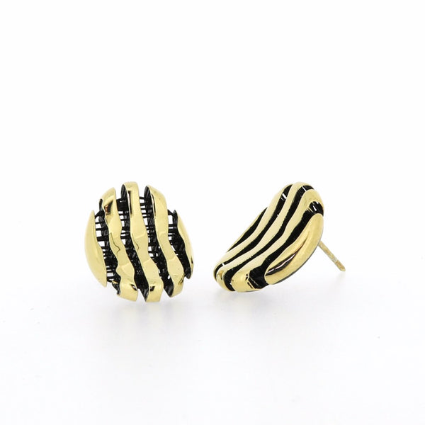 Milano Gilded Silver Curved Stud Earrings CLEARANCE save £34