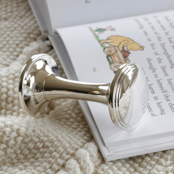 Silver Baby Rattle