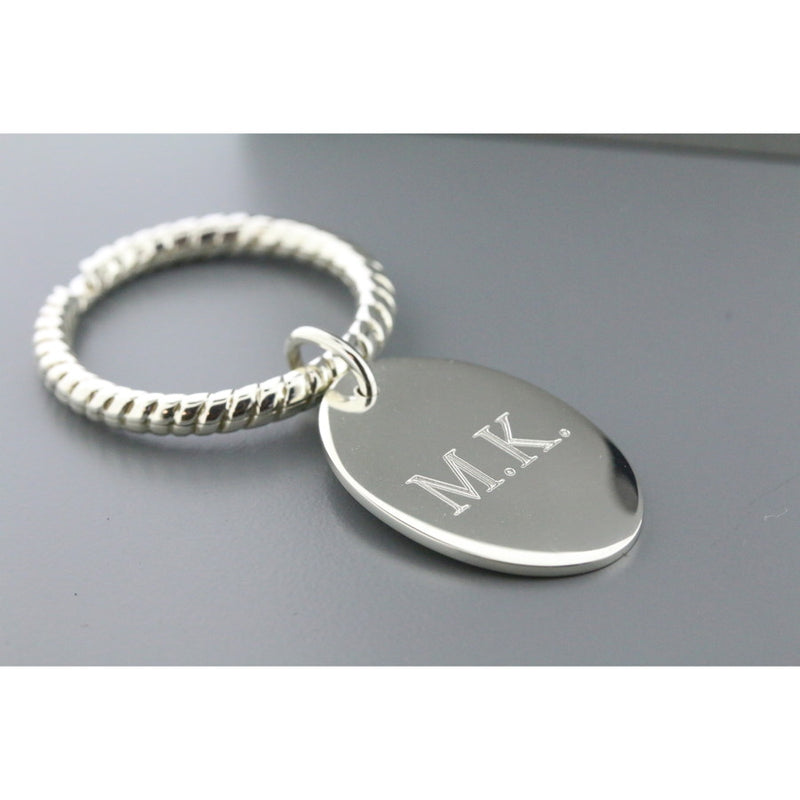 Rope Sterling Silver Keyring (Inc Engraving)