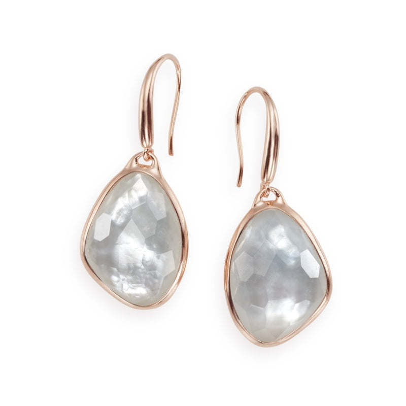 Rosalie Gilded Rock Crystal Earrings