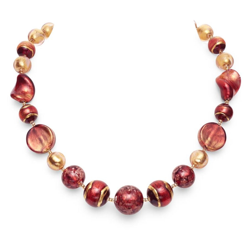 Rubino Murano Glass Classic Necklace