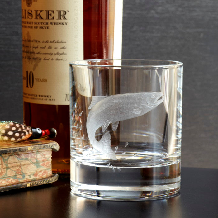 The Leaper Hand Engraved Whisky Glass