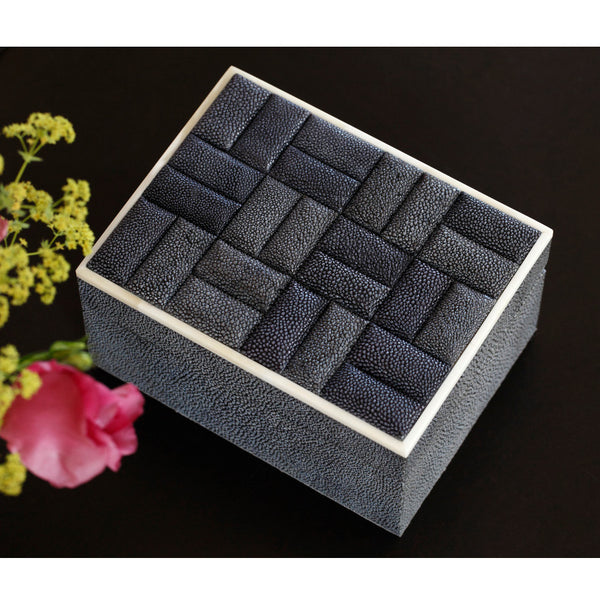 Quilted Shagreen Box