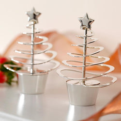 Yule Silver Christmas Tree Table Decoration (Single)