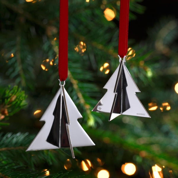 Finlandi Silver Christmas Tree Decoration (Pair)