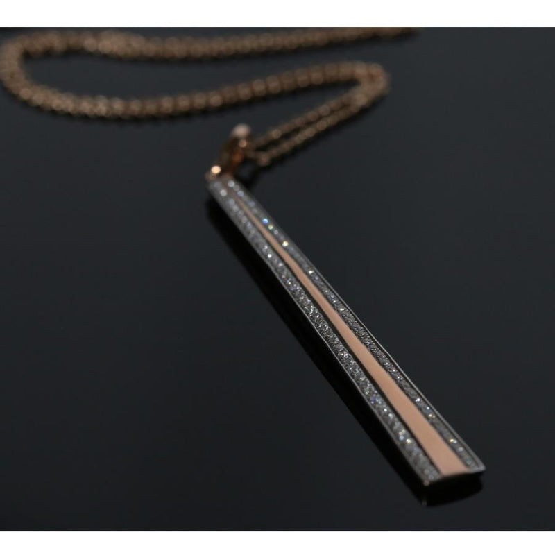 Vendome Diamond & 18ct Rose Gold Pendant
