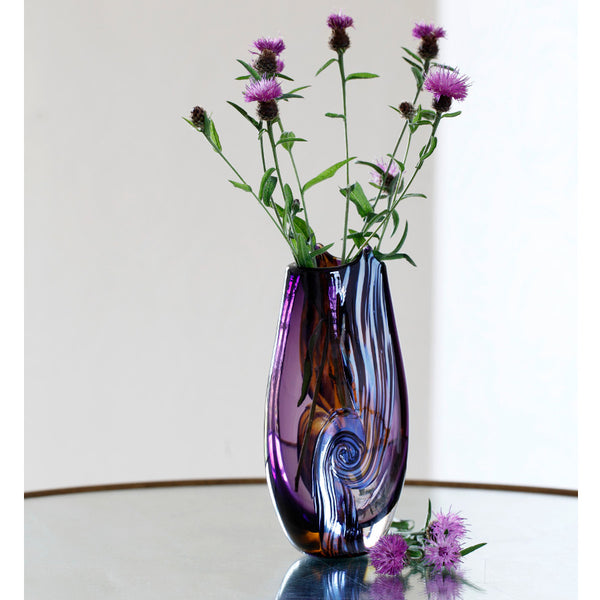 Vortex English Art Glass Vase