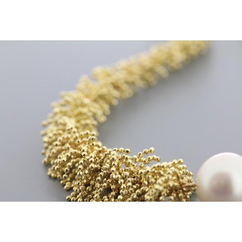 Waterfall Gilded Silver & Pearl Necklace