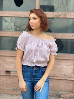 Lavender Eyelet Crop Top