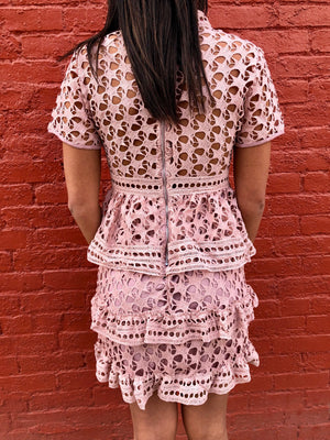 Pink Lace Dresss