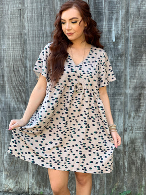 Tan Animal PrintDress