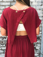 Red Open Back Maxi