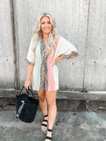 Leopard Color Block  Romper