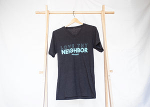 LOVE THY NEIGHBOR T-SHIRT - BLACK HEATHER