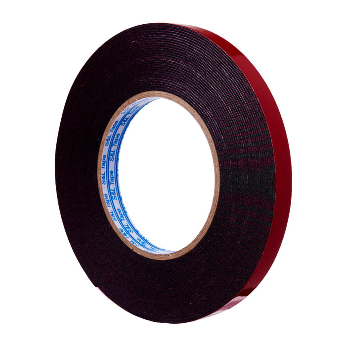 Super Strong Double-Sided Black Pe Foam Mounting Tape (12Mm X 10M)