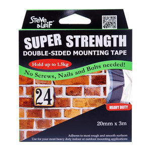 Double Sided Heavy Duty Foam Tape (20Mm X 3M), ,Steve & Leif - greenleif.sg