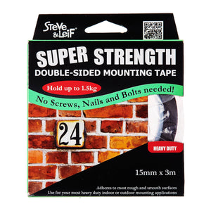 Double Sided Heavy Duty Foam Tape (15Mm X 3M), ,Steve & Leif - greenleif.sg