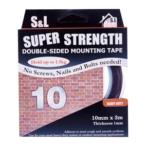 Double Sided Heavy Duty Foam Tape (10Mm X 3M), ,Steve & Leif - greenleif.sg