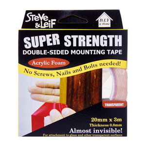 Double Sided Acrylic Clear Tape (20Mm X 3M), ,Steve & Leif - greenleif.sg
