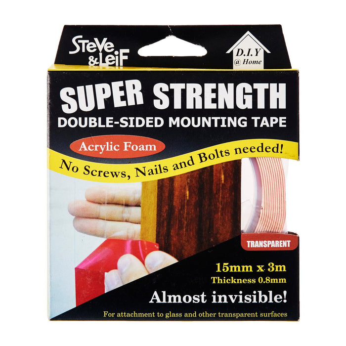 Double Sided Acrylic Clear Tape (15Mm X 3M)