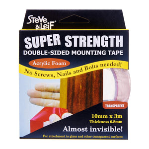 Double Sided Acrylic Clear Tape (10Mm X 3M), ,Steve & Leif - greenleif.sg