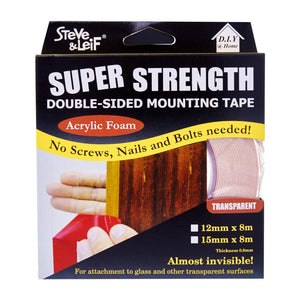 Double Sided High Bond Acrylic Foam Tape (15Mm X 8M), ,Steve & Leif - greenleif.sg